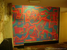 Michael Carlton Art Mural at the RISC Global Cafe, Reading Artist, 10 Years, Painting, Murals, Reading, Artists, Painting Art, Wall Paintings, Paintings