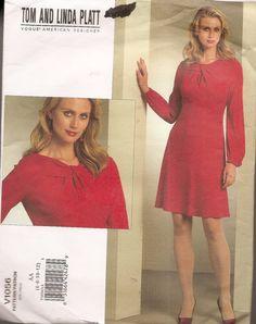 Vogue V1056 DRESS flared with twisted neckline by nancesnostalgia, $9.45