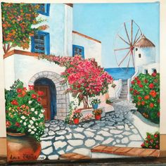 Items similar to Oil Painting; Oil Painting On Canvas; Wall Art on Etsy Watercolor Landscape, Landscape Paintings, Watercolor Paintings, Landscape Art, Beautiful Places, Beautiful Pictures, Pictures To Paint, Acrylic Painting Canvas, Belle Photo