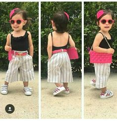Toddler Girl Outfits, Baby Girl Dresses, Baby Dress, Kids Outfits, Short Niña, Kids Clothing Brands, Look Girl, Fashion Poses, Kids Fashion Boy