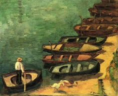Pierre Bonnard - Boats at Bont-Aven - 1890