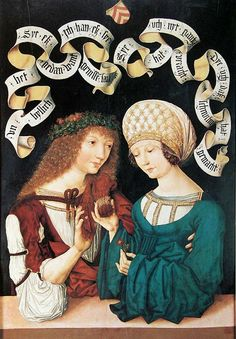 The Gotha Lovers, Master of the Housebook, 1480. Reinette: German Style from 1468-1588