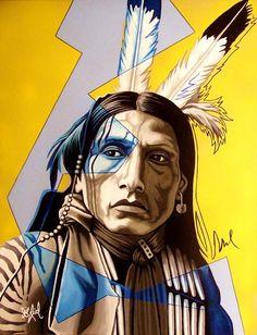 Kills Alone by Riel Benn(award winning artist from the Birdtail Sioux First Nation,Southwestern Manitoba)