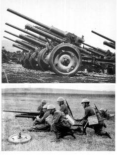 "mm gun called ""Elefantino"", pin by Paolo Marzioli Ww2 History, Military History, World War One, First World, Italian Army, Big Guns, Military Weapons, War Machine, Dieselpunk"