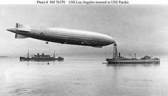 USS Los Angeles Moored at Sea