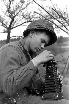 Germany World War II 44, old camera, soldier, photograph, black and white, concentration, never forget