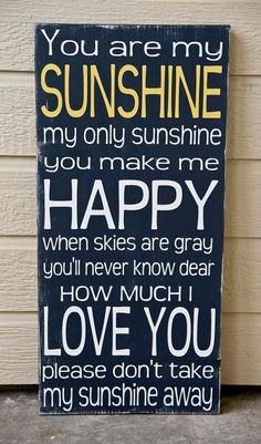 You are my sunshine! @Kati