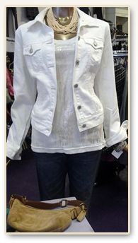 b7ab7bee3c7b White Jean Jacket - Fall Style Inspiration