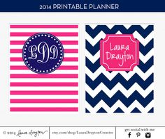 2014 Personalized Planner - Letter Size - Monthly Calendars - Weekly Planner - Meal Planner - Notes - Printable - INSTANT DOWNLOAD on Etsy, $12.00