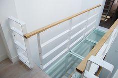 Footbridges of glass and steel (bramoosterhuis. Dresser, Stairs, Loft, Steel, Bed, Glass, Interior, Furniture, Home Decor