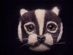 Fur Cat Brooch by JennieJamesResale on Etsy