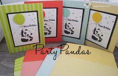 Tutti-Frutti Party Pandas | Stamp with Jenn