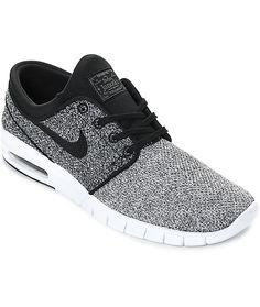 best service f9f71 8ac62 Nike SB Janoski Max White, Black   Dark Grey Skate Shoes