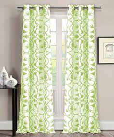 Love This Apple Green Dawn Victoria Curtains