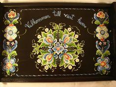 Norwegian Rosemaling, love it!