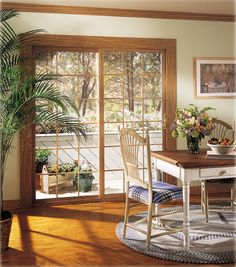 Decoration, Anderson Sliding Patio Doors Wood: Keep Connecting With The  Nature Outside By Having