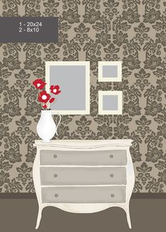 great for smaller spaces, wall art, over vanity or dresser