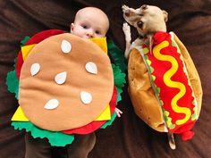 A Baby Hamburger and a Dog Hot Dog - that's one memorial day picnic I'm skipping!  :)