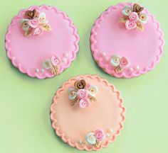 Diana Cookies In Pink and Peach - FEATURED. $48.00, via Etsy.