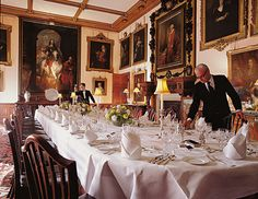 Highclere Castle, The setting for Downton Abbey home of the real Earl of Carnarvon.... here the Dining Room....Oh My!