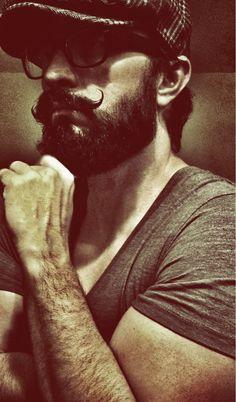 Twisty mustache and beard! Epic Beard, Sexy Beard, Full Beard, Beard Love, Great Beards, Awesome Beards, Beard No Mustache, Handlebar Mustache, Mustache Grooming