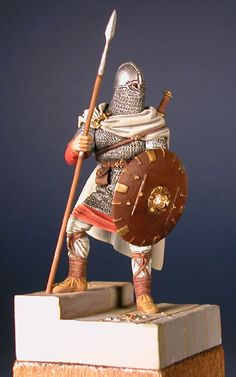 Anglo-Saon Warrior by Glen Philips (Time Machine This reminds me of beowolf because he needed to wear a lot of armor to stay protected when he was fighting. Vikings, Medieval Knight, Medieval Art, Anglo Saxon History, European History, Ancient History, American History, Anglo Saxão, Germanic Tribes