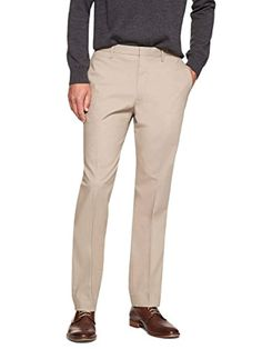 10acbb40 Men's Non Iron Slim Fit Dress Pants Khaki Beige 36W x 34L *** Click on the  image for additional details. (This is an affiliate link) #slimfitpants