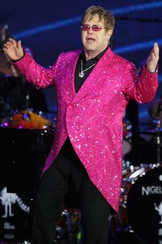 Outrageous singer Sir Elton John performs on stage during the Diamond Jubilee concert at Buckingham Palace on June 4, 2012 in London.