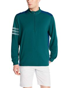 502c60fa7a00 Climacool technology in these mens adi competition quarter zip golf jackets  by Adidas provides zonal ventilation for cooling comfort!