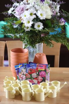 A garden flowers birthday party from The Imagination Tree