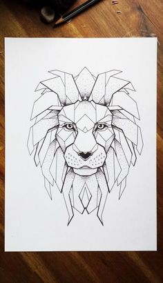 - Lion tattoo Design More – -Lion tattoo Design . - Lion tattoo Design More – - 27 best Ideas for diy art paintings geometric Lion Tattoo Drawing - this except the other half is like exploding possibly Souq Geometric Lion Tattoo, Geometric Drawing, Geometric Art, Tattoo Abstract, Lion Tattoo Design, Tattoo Designs, Compass Tattoo, Lion Drawing, Lion Art