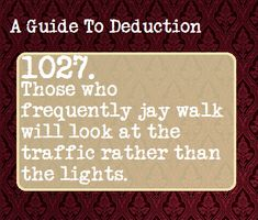 STARTING NOW! Don't Forget => This particular survival facts you should know For survival tips looks completely amazing, will have to bear this in mind when I've got a little bit of cash saved up. Writing Prompts, Writing Tips, Guide To Manipulation, A Guide To Deduction, The Science Of Deduction, Wtf Fun Facts, Random Facts, Hp Facts, How To Read People