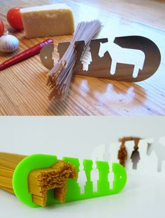 """i could eat a horse"" pasta measuring tool. soooooooo awesome."