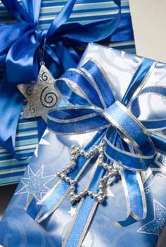 Blue & Silver Gift wrapping