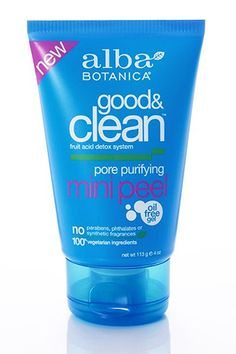 Alba Botanica Good & Clean Pore Purifying Mini Peel detoxes pores for seriously clear skin. Eco Beauty, Beauty Skin, Health And Beauty, Hair Beauty, Allure Beauty, Beauty Secrets, Beauty Hacks, Beauty Tips, Beauty Products You Need