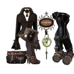 Steampunk Fashion Great boots and jacket