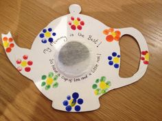 Tea pot Mother's Day card