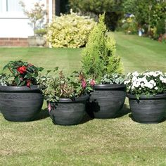Gablemere Pack of 4 Antique Style Wenlock Planters | Internet Gardener
