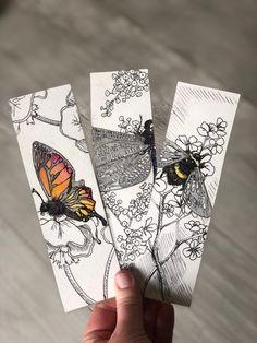 Creative Bookmarks, Diy Bookmarks, Corner Bookmarks, Watercolor Bookmarks, Watercolor Art, Bookmark Printing, Bookmark Craft, Ouvrages D'art, Book Markers