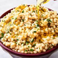 Side Dish Recipes, Pasta Recipes, Dinner Recipes, Cooking Recipes, Salad Recipes, Making Couscous, Couscous How To Cook, Pearl Couscous Recipes, Recipes
