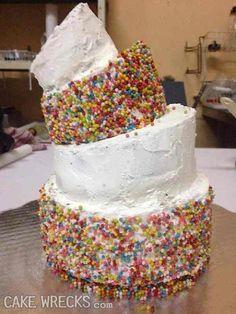 Cake Wrecks - Home So Creative, Creative Cakes, Ugly Cakes, Baking Fails, Bad Cakes, Jamie Jones, Cake Wrecks, Beautiful Disaster, Vanilla Cake