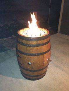 Wine barrel fire