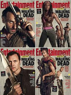 The Walking Dead  the entertainment weekly walking dead poster lineup