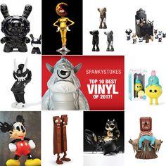 SpankyStokes's Top 10 Best Vinyl Releases of 2017! #BestofYear #DesignerToyArtToy #SpankyStokes #Vinyl