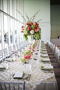 Tables set for wedding at Tampa Museum of Art | Weddings and ...
