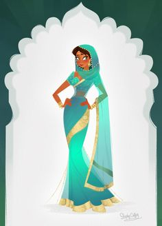 Indian Style / Stile Indiano - Art by Stephy Coffey Female Character Design, Character Design Inspiration, Character Concept, Character Art, Concept Art, Art And Illustration, Illustrations, Character Illustration, Bd Art