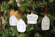 Printable nativity ornaments