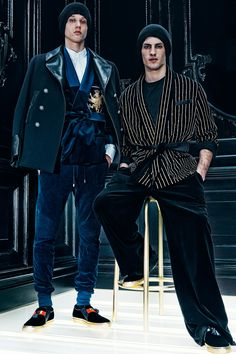 Balmain Mens FW15 collection - Models :Abiah Hostvedt and Corto Boutan Creative direction by Pascal Dangin of KiDS Creative Photography by Dominick Sheldon