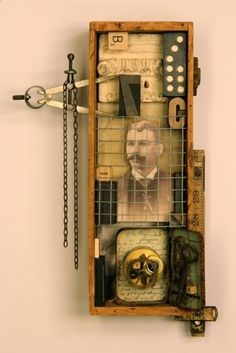 From Humble Beginnings - assemblage by Rod Lathim Found Object Art, Found Art, Collages, Collage Art Mixed Media, Recycled Art, Repurposed, Assemblage Art, Vanitas, Box Art