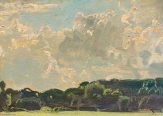 Étude des arbres - (5) de Sir Alfred James Munnings (1878-1959, United Kingdom)
